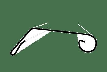 Zinken afdekker, kraallijst tot 25cm (p/m)
