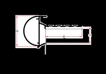 Daktrim Roval kraal 38mm incl. kit (p/m)