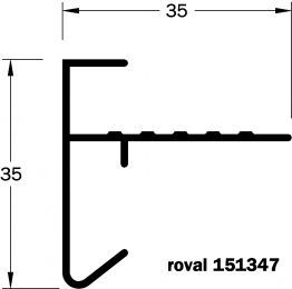 Daktrim Roval 35x35mm Incl. Kit (p/m)