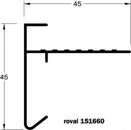 Daktrim Roval 45x45mm Incl. Kit (p/m)