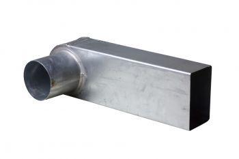 Stadsuitloop zink 60x100mm (p/st.)